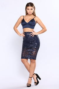 Thank Your Lucky Stars Sequin Set - Navy