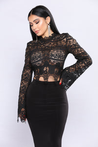 Nikki Lace Top - Black