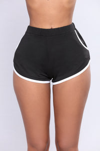 Beach Volleyball Dolphin Shorts - Black