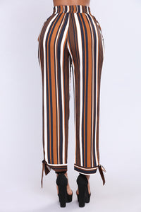 Jazmine Stripe Pants - Navy Multi
