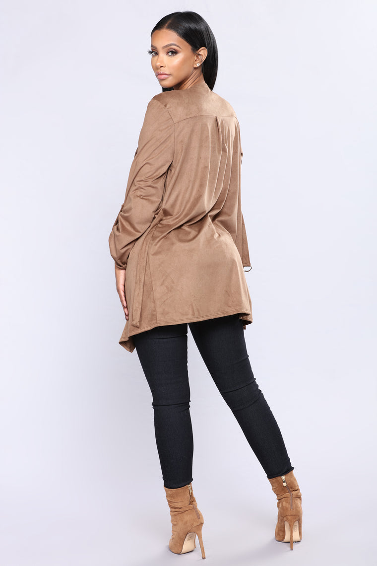 Lind Suede Jacket - Brown