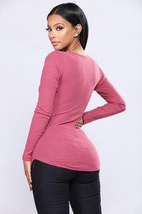 Ninel Long Sleeve Top - Rose