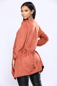 Lind Suede Jacket - Rust