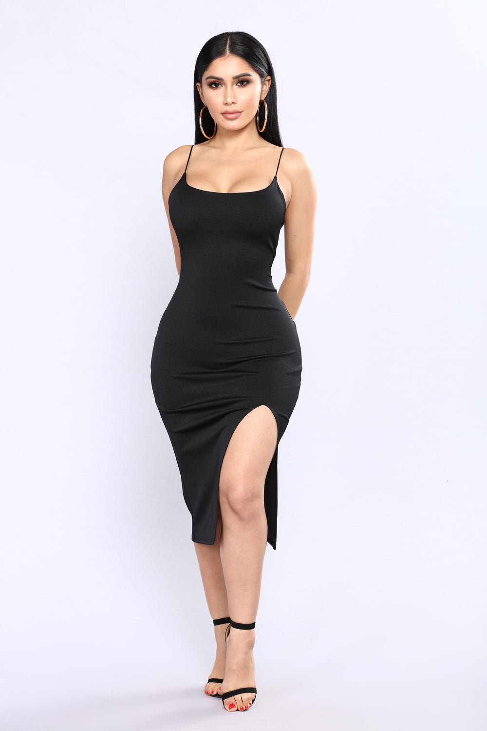 Rosheen Midi Dress - Black