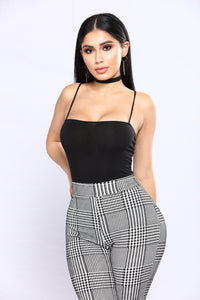 Straight To It Bodysuit - Black