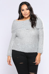 Cozy Corded Sweater - Grey