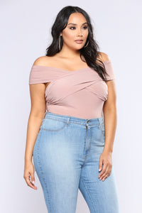Cross My Heart Bodysuit - Mauve