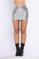 Bouverie Mini Skirt - Silver