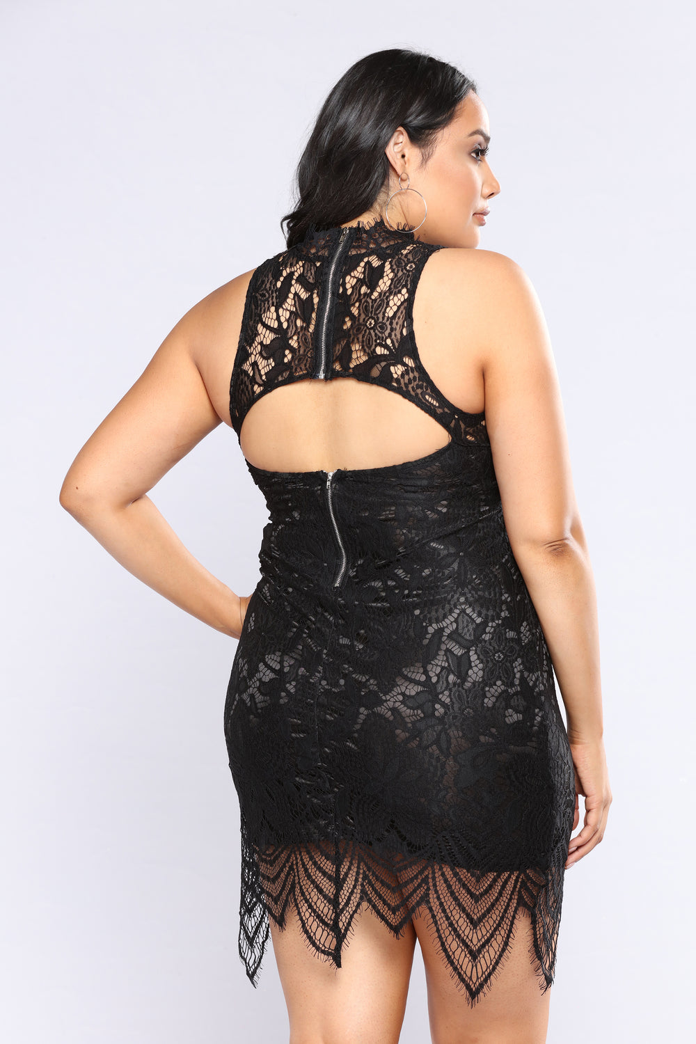 Most Sophisticated Lace Dress - Black