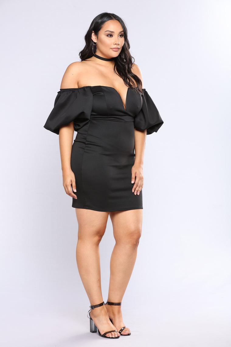 You're Beautiful Midi Dress - Black