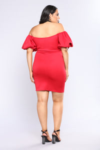 You're Beautiful Midi Dress - Red