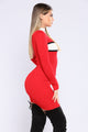 Well Balance Knit Dress - Red Combo