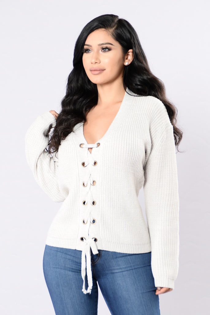 All Tied Up Sweater - Ivory