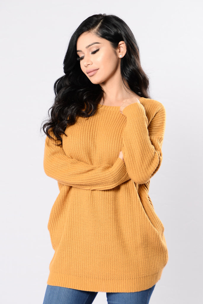 Sexy Secretary Sweater - Mustard