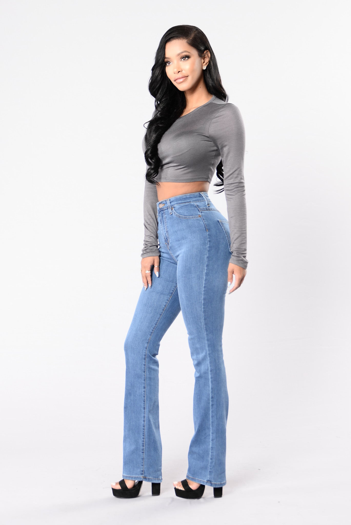 Step Out Of The Box Boot Cut Jeans Light Stone