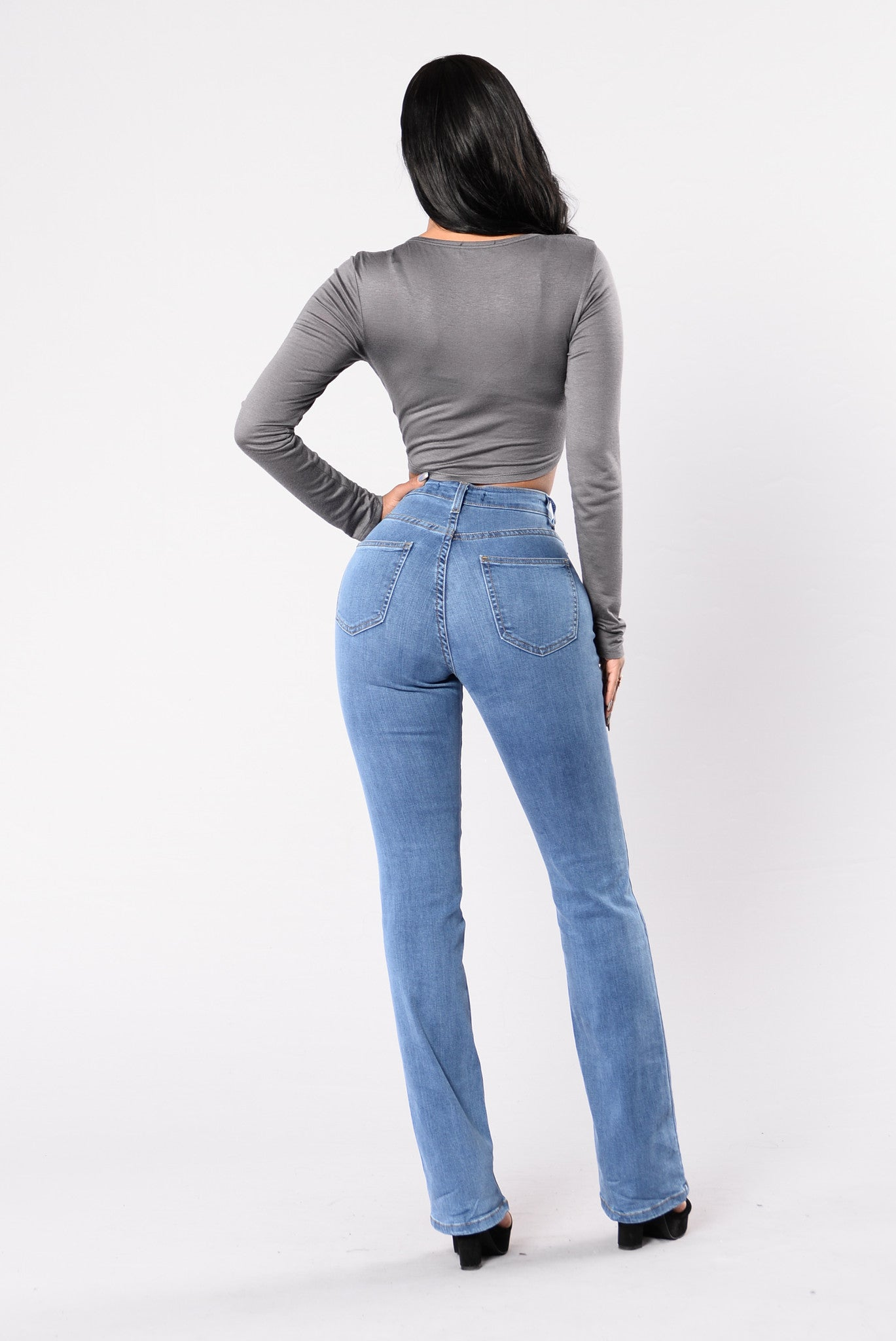 6524d454528 Step Out Of The Box Boot Cut Jeans - Light Stone