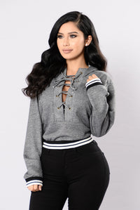 Getting Colder Top - Heather Grey