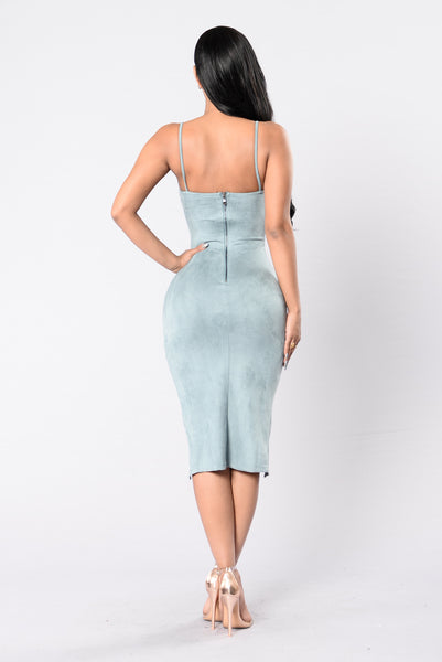 Feeling The Night Dress - Blue Grey