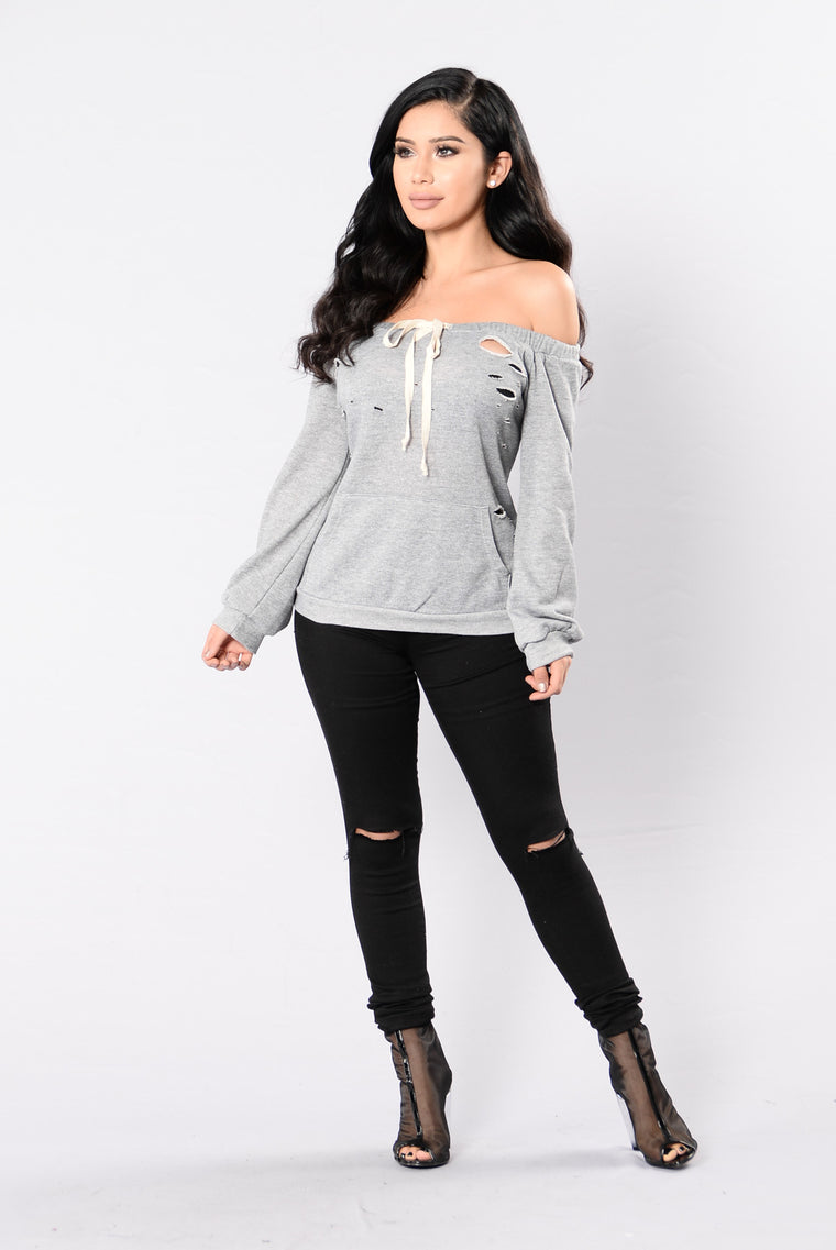In My Shadow Top - Heather Grey
