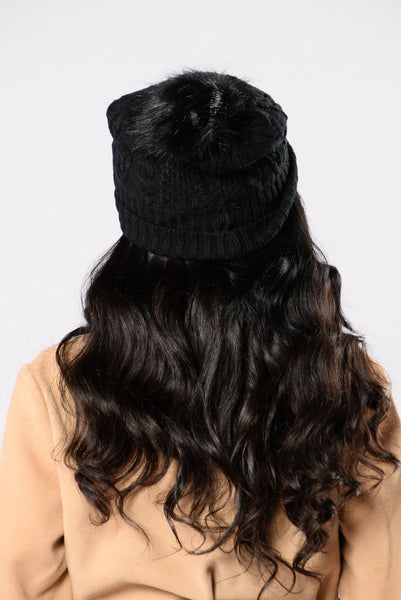 Knit With Love Beanie - Black