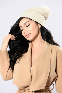 Knit With Love Beanie - Ivory