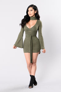 Perfect Stranger Dress - Olive