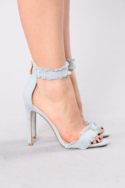 Tick Tick Bang Heel - Denim