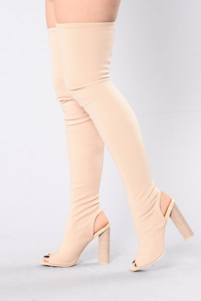 Queen B Boot - Nude