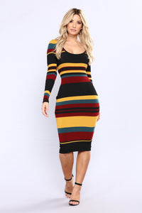 In My Arms Striped Dress - Multi