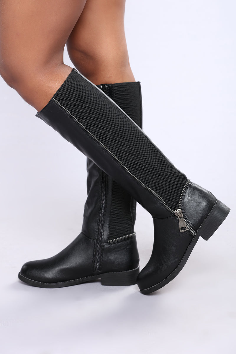 Makayla Knee High Boot - Black