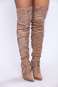 Wrap This Up Boot - Taupe