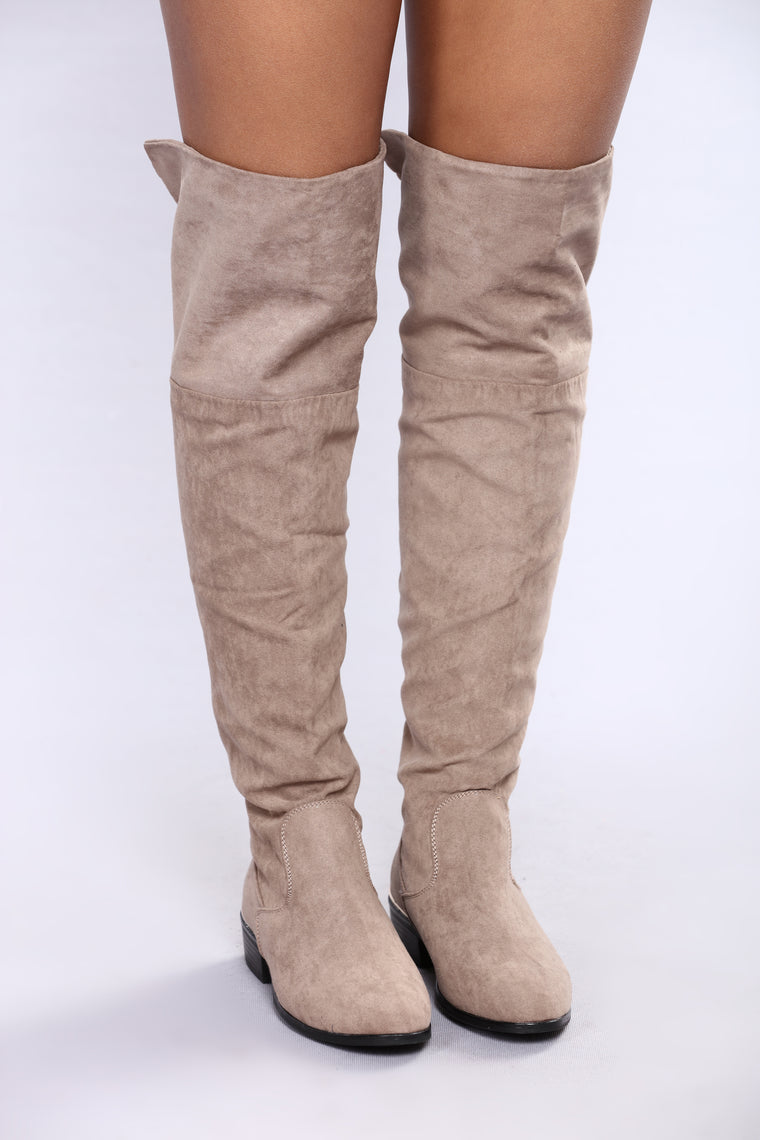 Adalynn Over The Knee Boot - Taupe