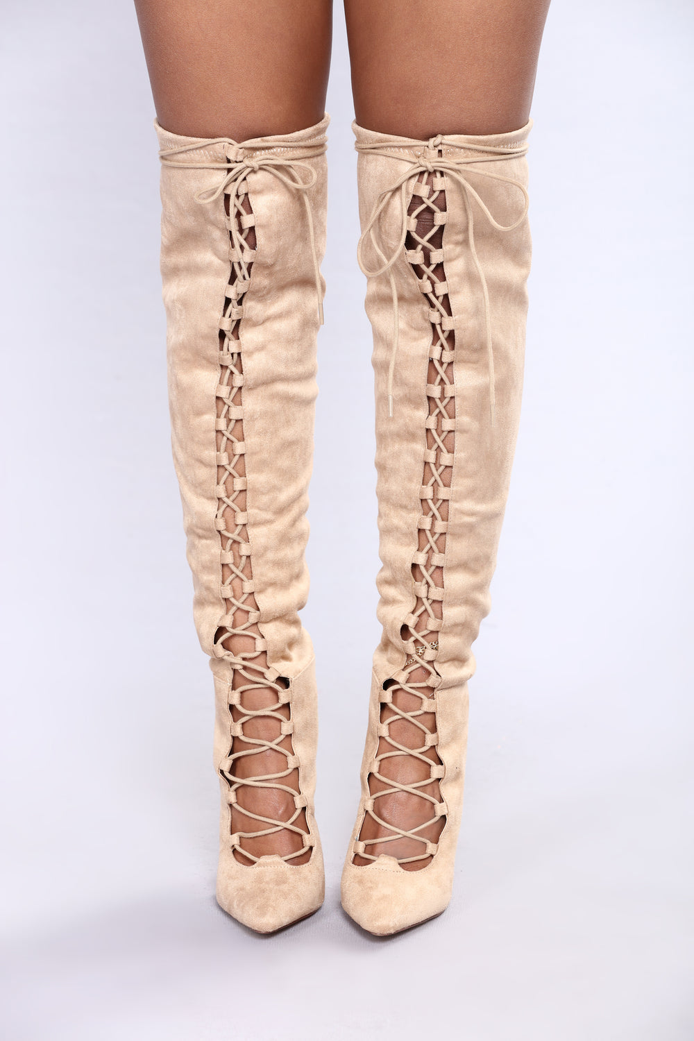 Janet Lace Up Boot - Taupe