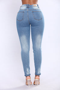 Before Sun Down Jeans - Light Blue Wash