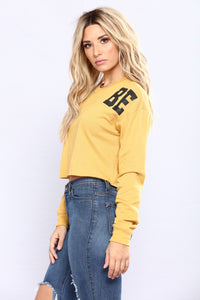 His One And Only Babe Top - Mustard
