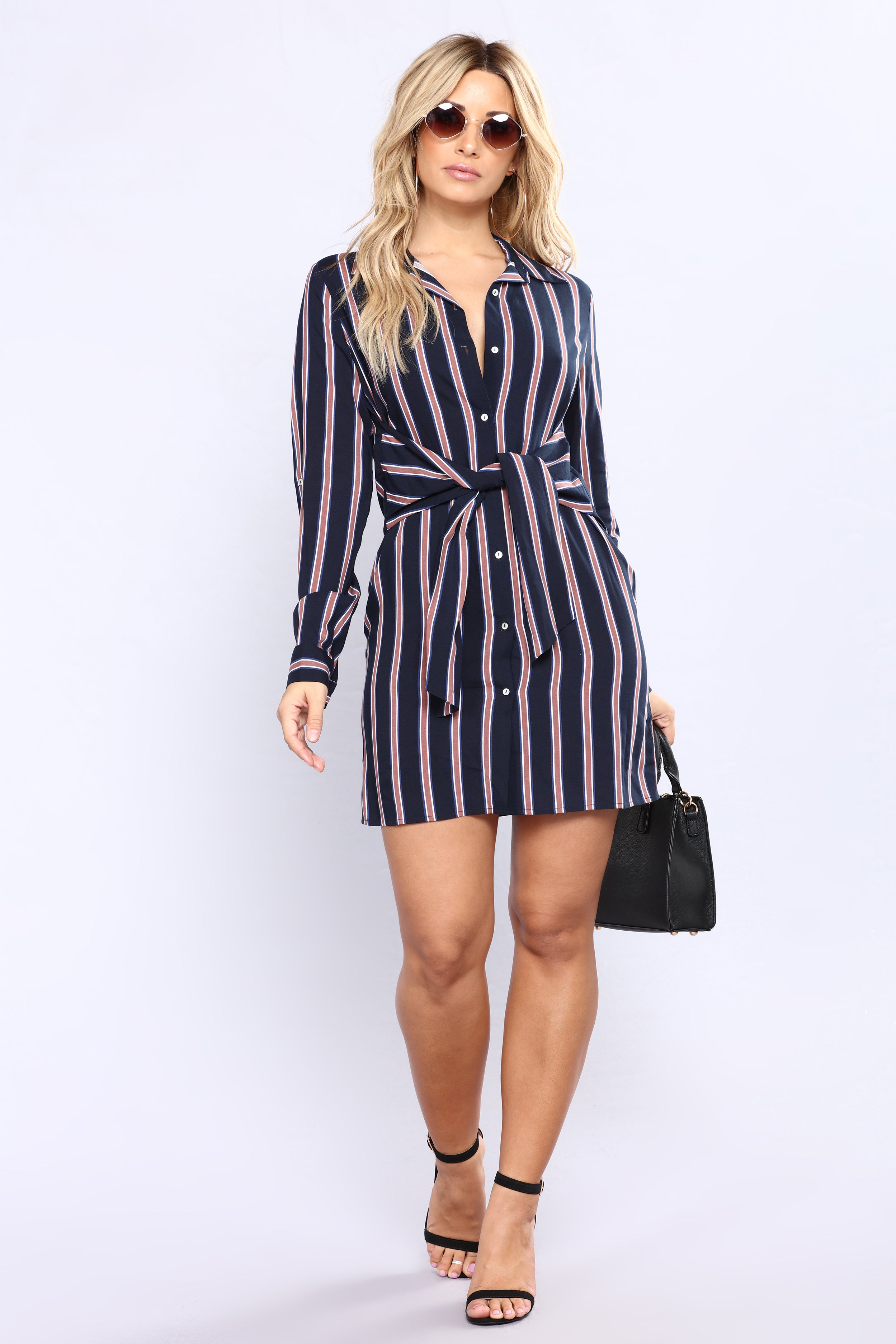 FREE SHIPPING on orders over $ FREE RETURNS in store. This striped shirt dress is crafted from soft linen, and pairs perfectly with sandals or espadrilles. $