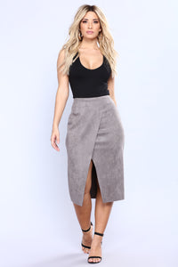 Cut Out Craze Skirt - Grey Angle 1
