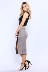 Cut Out Craze Skirt - Grey Angle 4
