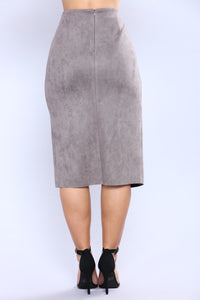 Cut Out Craze Skirt - Grey Angle 5