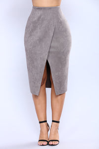 Cut Out Craze Skirt - Grey Angle 2