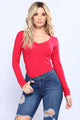 Sami V Neck Top - Deep Red