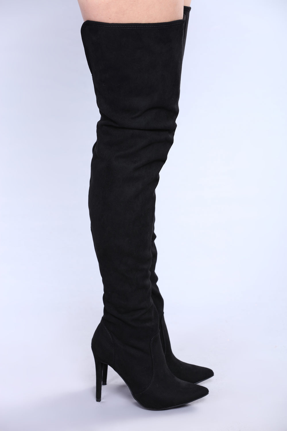 Leila Over The Knee Boot - Black