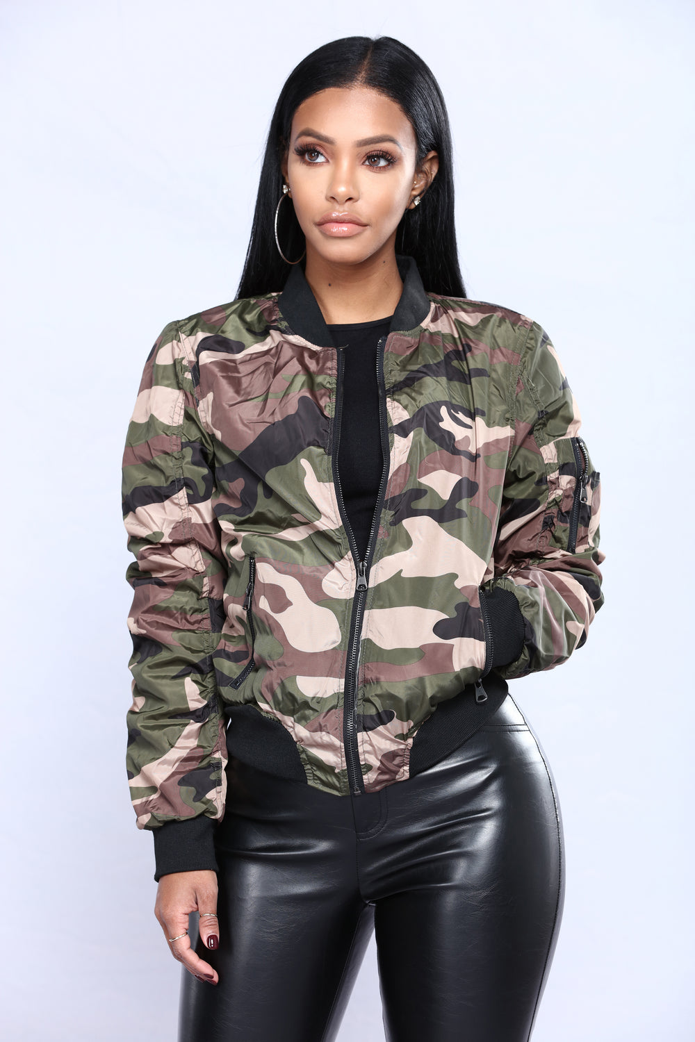 Handle It Camo Bomber - Camo