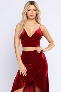 Living In Luxury 3 Piece Set - Burgundy