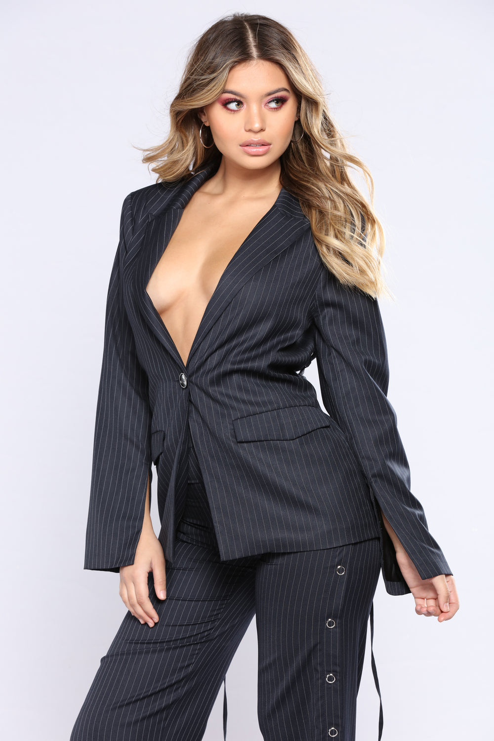 Pin It On You Blazer - Dark Navy