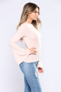 Saved By The Bell Sleeve Top - Rose