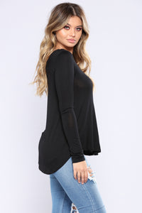 Sarita Basic Top - Black
