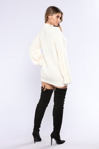Corset Me Not Sweater - Ivory