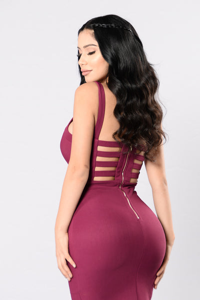 Feels Like Forever Dress - Plum