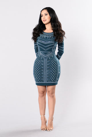 Devoted To You Dress - Teal